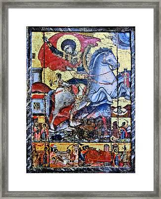 Sant George Slaying The Dragon. Framed Print