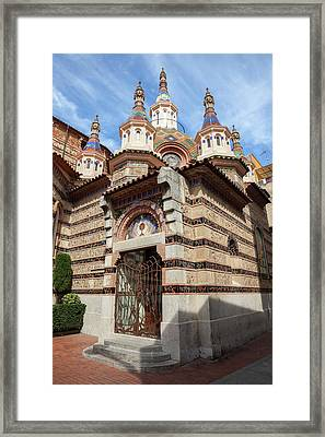 Sant Roma Church In Lloret De Mar Framed Print by Artur Bogacki