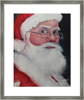 Naughty Or Nice ? Santa 2016 Framed Print