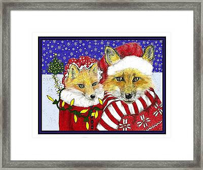 Santa And Ms Fox Framed Print by Marla Saville