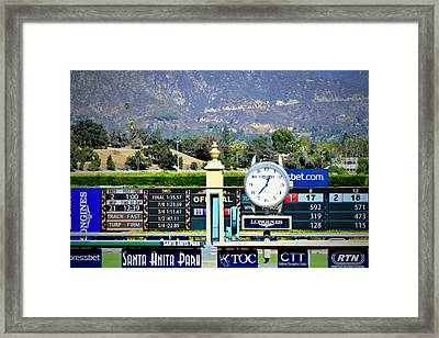 Santa Anita Park Finish Line Framed Print by See My Photos