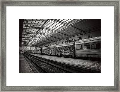 Santa Apolonia Railway Station Lisbon Framed Print