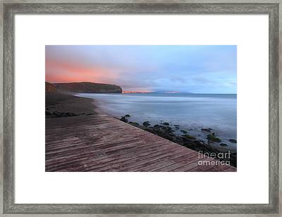 Santa Barbara Beach Framed Print by Gaspar Avila