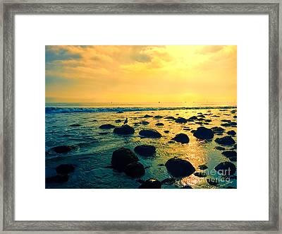 Santa Barbara California Ocean Sunset Framed Print