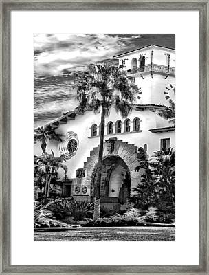Santa Barbara City Hall Triptych_part2 Framed Print
