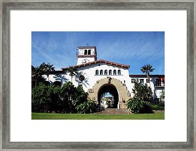 Santa Barbara Courthouse -by Linda Woods Framed Print by Linda Woods