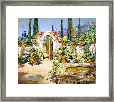 Santa Barbara Courtyard Framed Print by Pg Reproductions