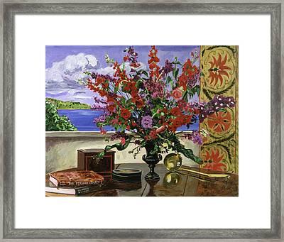 Santa Barbara Floral Framed Print by David Lloyd Glover