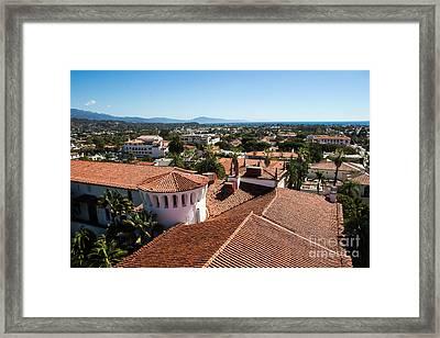 Santa Barbara From Above Framed Print