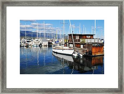 Framed Print featuring the photograph Santa Barbara Harbor by Kyle Hanson
