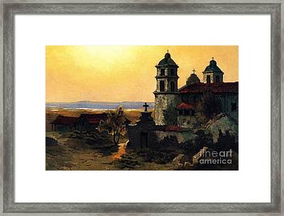 Santa Barbara Mission Framed Print by Pg Reproductions