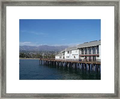 Santa Barbara Pier Framed Print by Madeleine Prochazka