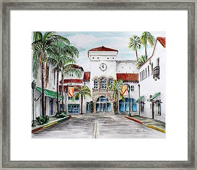 Santa Barbara Streets Framed Print