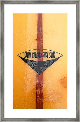 Santa Barbara Surf Shop Framed Print