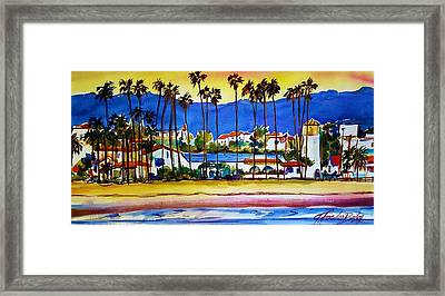 Santa Barbara Framed Print by Therese Fowler-Bailey