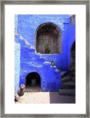 Framed Print featuring the photograph Santa Catalina Monastery, Arequipa, Peru by Aidan Moran