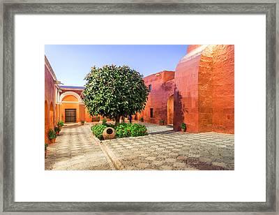 Santa Catalina Monastery At Night Framed Print by Jess Kraft