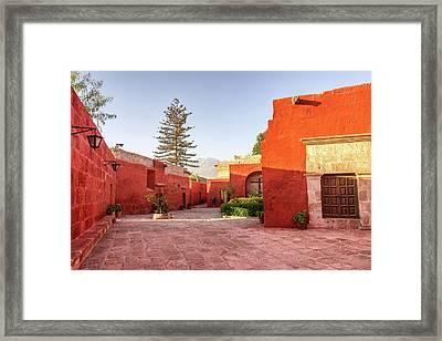 Santa Catalina Monastery Courtyard Framed Print by Jess Kraft