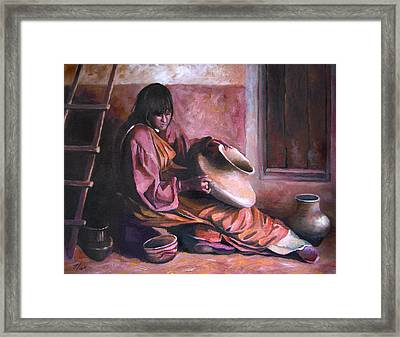 Santa Clara Potter Framed Print by Nancy Griswold