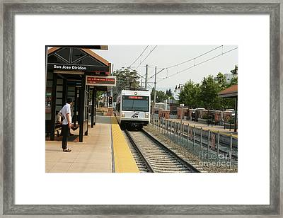 Santa Clara Valley Transportation Authority Light-rail Train Framed Print