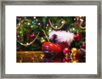 Santa-claus Boot Framed Print by Carlos Caetano