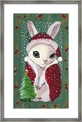 Santa Claus Bunny Framed Print by Sylvia Pimental