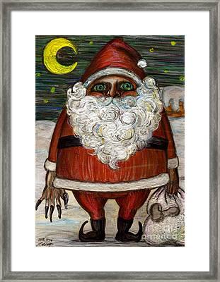 Santa Claus By Akiko Framed Print by Akiko Okabe