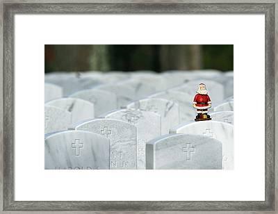 Santa Claus Calverton New York Framed Print