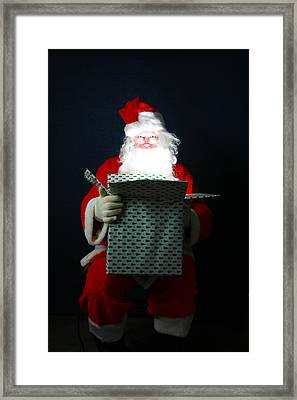 Santa Claus Has Christmas Magic For All Framed Print by Michael Ledray