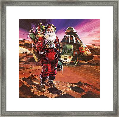 Santa Claus On Mars Framed Print by English School