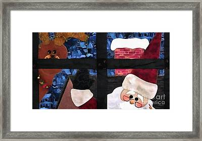 Santa Claus Quilt Painting Framed Print