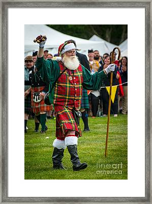 Santa Claus - Scottish Festival And Highland Games Framed Print