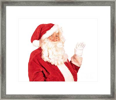 Santa Claus Waving Hand Framed Print by Amanda Elwell