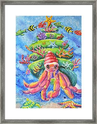 Santa Crab Framed Print