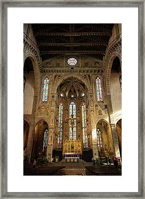 Santa Croce Florence Italy Framed Print