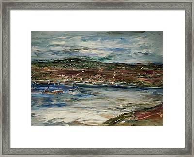 Santa Cruz Bay Framed Print by Edward Wolverton