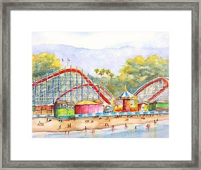 Santa Cruz Beach Boardwalk Framed Print
