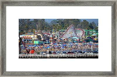 Santa Cruz Boardwalk Framed Print