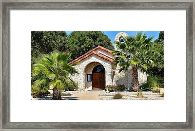 Santa Cruz Chapel  Framed Print by Ray Shrewsberry