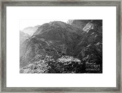 Framed Print featuring the photograph Santa Cruz Guatemala Black And White by Tim Hester