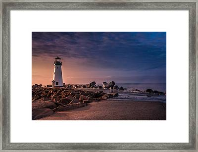 Santa Cruz Harbor Walton Lighthouse Framed Print