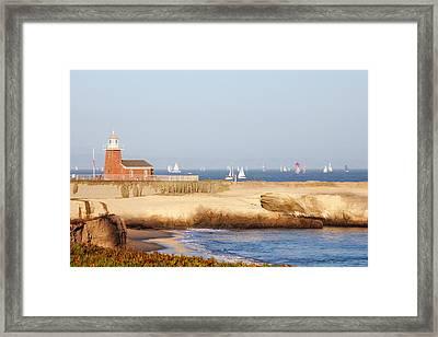 Santa Cruz Lighthouse Framed Print by Paul Topp