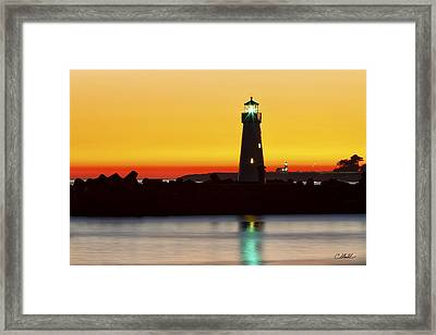 Santa Cruz Lighthouses Framed Print