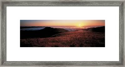 Santa Cruz Mountains At Sunset Ca Usa Framed Print by Panoramic Images