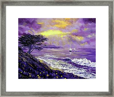 Santa Cruz Rhapsody Framed Print by Laura Iverson