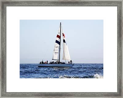 Santa Cruz Sailing Framed Print by Marilyn Hunt