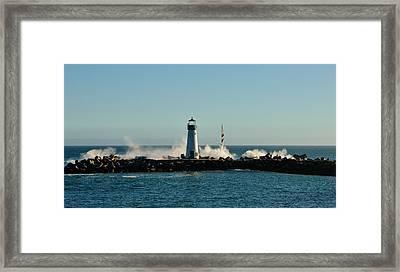 Santa Cruz Walton Lighthouse Framed Print by Marilyn MacCrakin