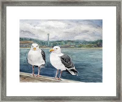 Santa Cruz Wharf Framed Print by Susy Soulies