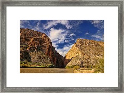 Santa Elena Canyon 3 Framed Print by Judy Vincent