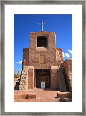 Santa Fe - San Miguel Chapel Framed Print by Frank Romeo